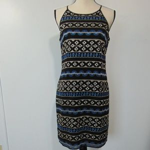 White House Black Market Dress Embroidered Sz 4
